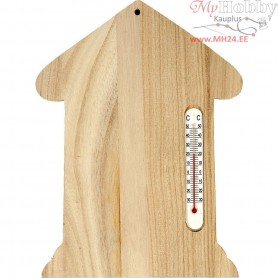 Thermometer House, size 23,5x16,5 cm, empress wood, 1pc