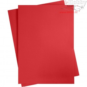 Card, sheet 497x697 mm,  270-300 g, christmas red, 10sheets