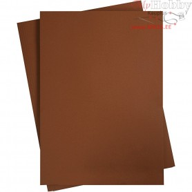 Card, sheet 497x697 mm,  270-300 g, coffee brown, 10sheets