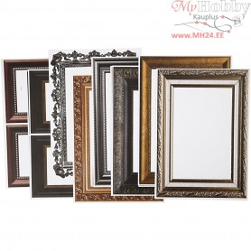 Frames, sheet 26,2x18,5 cm, metallic colours, 16asstd. sheets