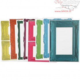 Frames, sheet 26,2x18,5 cm, bold colours, 16asstd. sheets