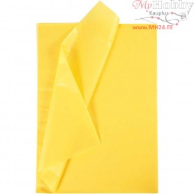 Tissue Paper, sheet 50x70 cm,  14 g, yellow, 25sheets