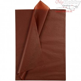 Tissue Paper, sheet 50x70 cm,  14 g, brown, 25sheets