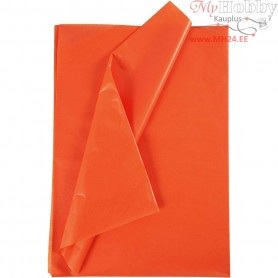 Tissue Paper, sheet 50x70 cm,  17 g, orange, 25sheets