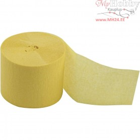 Crepe Paper Streamers, W: 5 cm, L: 20 m, yellow, 20rolls