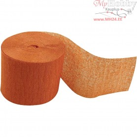 Crepe Paper Streamers, W: 5 cm, L: 20 m, orange, 20rolls
