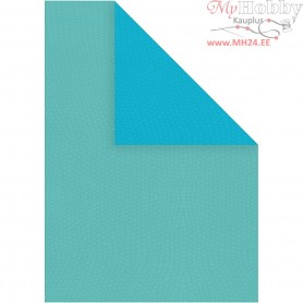 Card, A4 210x297 mm,  250 g, dark turquoise/light turquoise, 10sheets