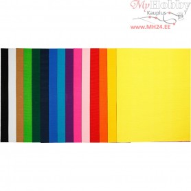 Corrugated Card, sheet 50x70 cm,  80 g, 15asstd. sheets
