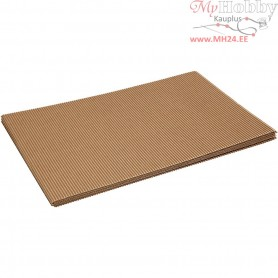Corrugated Card, sheet 25x35 cm,  120 g, 10sheets