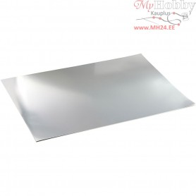 Metallic Foil Card, A2 420x600 mm,  280 g, silver, 10sheets