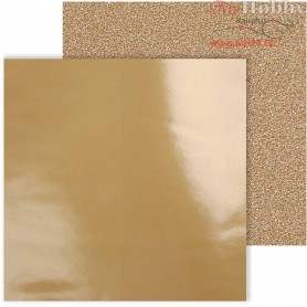 Design Paper, sheet 30,5x30,5 cm,  120+128 g, copper, 2sheets,