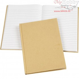 Notebook, A5 15x21 cm, brown, 1pc