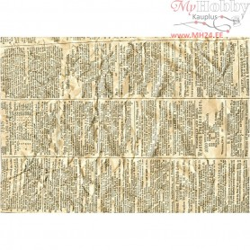 Kraft Paper, A4 210x297 mm,  100 g, newspaper, 10 lehte pakis