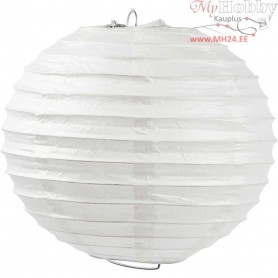 Paper Lamp, D: 20 cm, white, 1pc