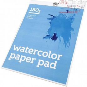 Watercolour Paper Pad, A3 297x420 mm,  180 g, white, 20sheets