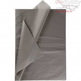 Tissue Paper, sheet 50x70 cm,  14 g, grey, 25sheets