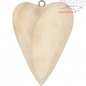 Heart, size 11,5x8,5x3 cm, mixed wood, 1pc