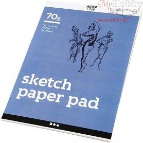 Drawing Paper Pad, A4 210x297 mm,  70 g, white, 70sheets