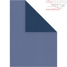 Paper, A4 210x297 mm,  100 g, light blue/dark blue, 20sheets