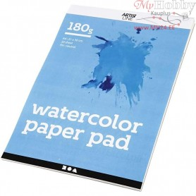 Watercolour Paper Pad, A4 210x297 mm,  180 g, white, 20sheets