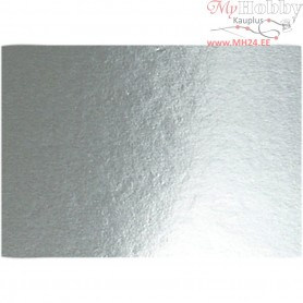 Metallic Foil Card, A4 210x297 mm,  280 g, silver, 10sheets