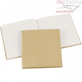 Notebook, size 14x14 cm, brown, 1pc