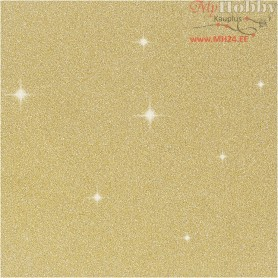 Glitter Film, W: 35 cm, thickness 110 micron, gold, 2m