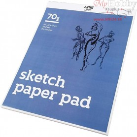 Drawing Paper Pad, A3 297x420 mm,  70 g, white, 70sheets