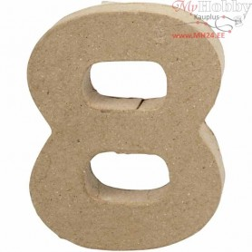 Number, 8, H: 10 cm, thickness 1,7 cm, 1pc, W: 7,6 cm