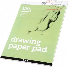 Drawing Paper Pad, A4 210x297 mm,  120 g, white, 30sheets