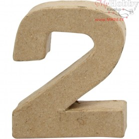 Number, 2, H: 10 cm, thickness 1,7 cm, 1pc, W: 8,3 cm