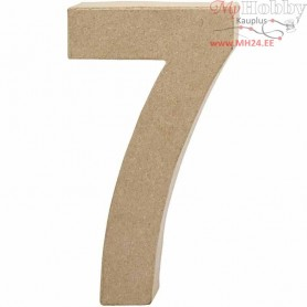 Number, 7, H: 20,2 cm, W: 11 cm, 1pc, thickness 2,5 cm