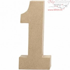 Number, 1, H: 20,5 cm, W: 9,5 cm, 1pc, thickness 2,5 cm