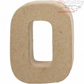Letter, O, H: 10 cm, thickness 1,7 cm, 1pc, W: 7,8 cm