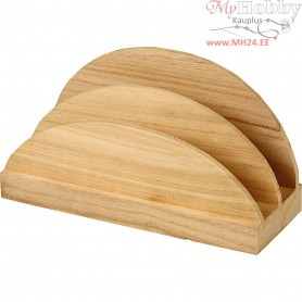 Napkin Holder, size 17x9x6,5 cm, empress wood, 1pc