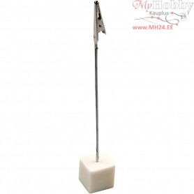 Alligator Clip Display Stand, size 2x2x2 cm, H: 15 cm, 5pcs