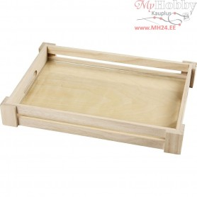 Tray, inner size 22x32 cm, empress wood, 1pc