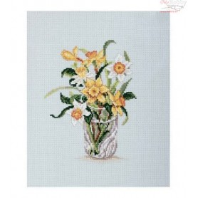 RTO Daffodils in crystal glass - Counted Cross Stitch Kit, Art: C180