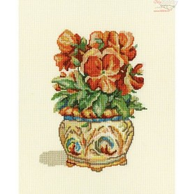 RTO Red violets - Counted Cross Stitch Kit, Art: C189