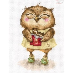 RTO Chocolate bits in silver foil - Counted Cross Stitch Kit, Art: C233
