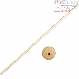 Stick with Foot, H: 30 cm, mixed wood, 10sets