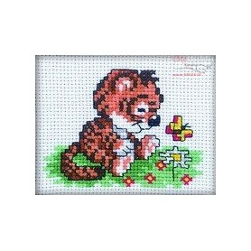 RTO Tiger and butterfly - Counted Cross Stitch Kit, Art: H140