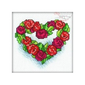 RTO Heart of roses - Counted Cross Stitch Kit, Art: H121
