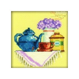 RTO A Cup of Tea in The Morning - Counted Cross Stitch Kit, Art: H198