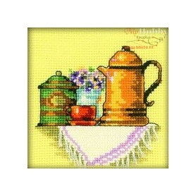 RTO A Cup of Coffee in The Morning - Counted Cross Stitch Kit, Art: H199