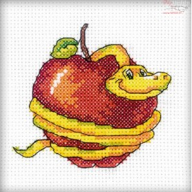 RTO Snake with an apple - Counted Cross Stitch Kit, Art: H215