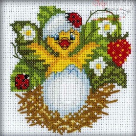 RTO Chick and strawberries - Counted Cross Stitch Kit, Art: H212