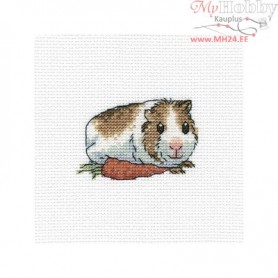 RTO Cavy with carrot - Counted Cross Stitch Kit, Art: H261