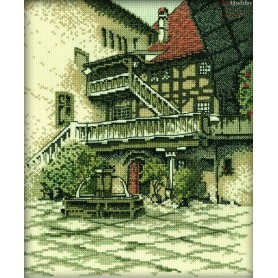 RTO Castle Courtyard - Counted Cross Stitch Kit, Art: R139