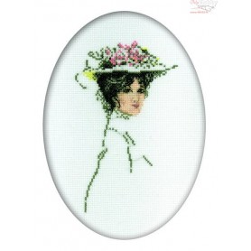 RTO Lady in a hat - Counted Cross Stitch Kit, Art: R290